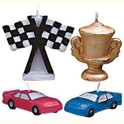 Sviečky pretekárske autá