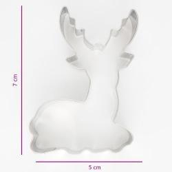 Vykrajovačka jeleň sediaci 7cm