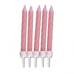Sviečky ružové 10