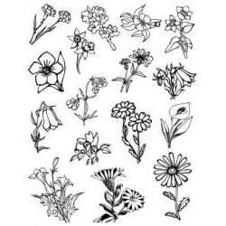 Silik. pečiatka kvety