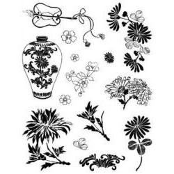 Silik. pečiatka kvety vo váze