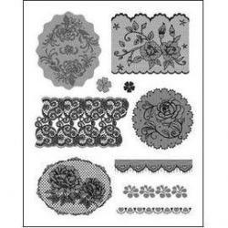 Silik. pečiatka bordúry kvety