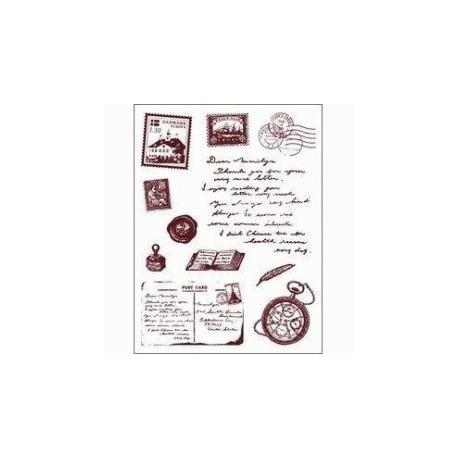 Silik. pečiatka poštové známky