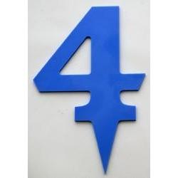 Narodeninové číslo 4 modré