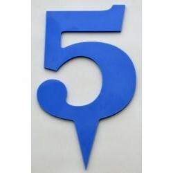Narodeninové číslo 5 modré
