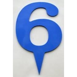 Narodeninové číslo 6 modré