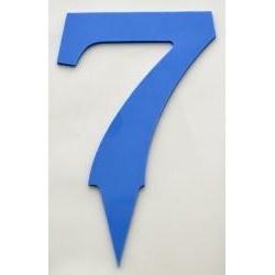 Narodeninové číslo 7 modré