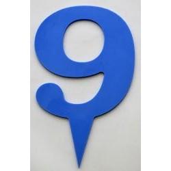 Narodeninové číslo 9 modré