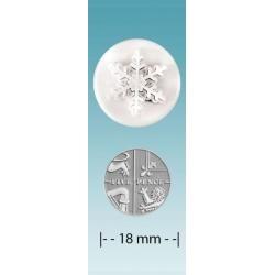 Vykrajovačka snehová vločka 18mm