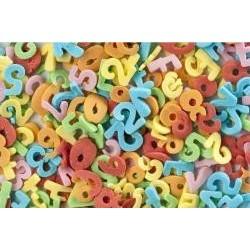 Písmenká a čísla farebné 50g