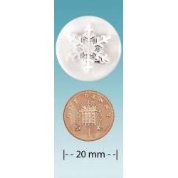 Vykrajovačka snehová vločka 20mm