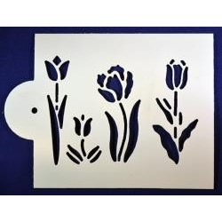 Stencil jarné kvety