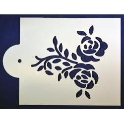 Stencil halúzka ruží