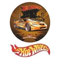 Jedlá oblátka Hot wheels