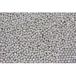 Perličky strieborné metalické 2mm