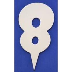 Narodeninové číslo 8 Gothic