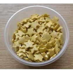 Cukrové zlaté hviezdičky