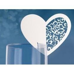 Menovka na pohár srdce