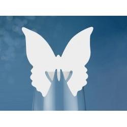 Menovka na pohár motýľ