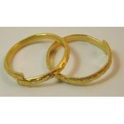 Prstienky zlaté 2ks