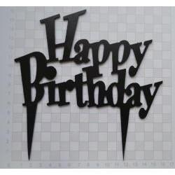 Nápis Happy Birthday čierne