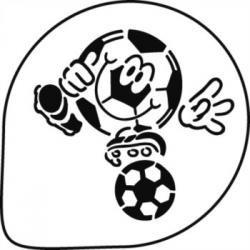 Dekoračná šablóna futbal Akcia