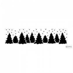 Stencil - vianočný les - výpredaj