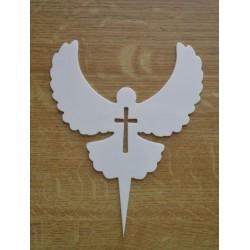 Dekorácia holubica a kríž
