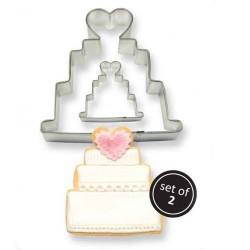 Vykrajovačka svadobná torta 2ks
