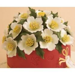 Patchwork - vianočná ruža II.