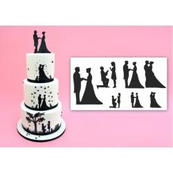 Patchowork svadobná silueta