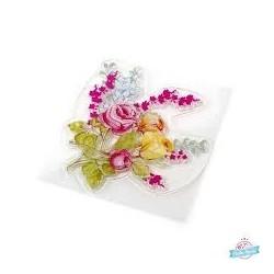 Silikónová pečiatka kytica kvetov
