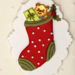 Patchwork - vianočná ponožka