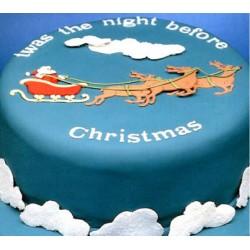 Patchwork - Santa na saniach