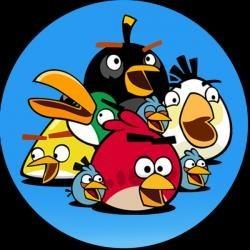 Vafla Angry birds modrý