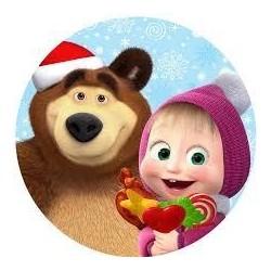 Vafla Máša a medveď kruh