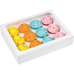 Krabička na cupcake 3ks biela