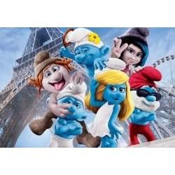 Vafla šmolkovia v Paríži