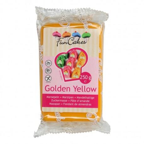 FunCakes zlato žltý marcipán 250g