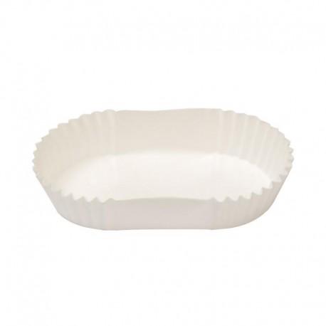 Cukrárske košíčky biele podlhovasté