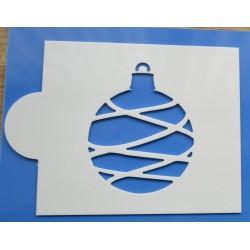 Stencil vianočná guľa