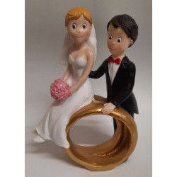 Figurka svadobná nevesta na obrúčkach