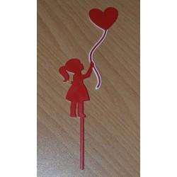 Zápich dievča s balónikom
