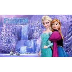 Vafla Anna a Elsa pri vodopáde