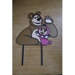 Dekorácia Máša a medveď zápich