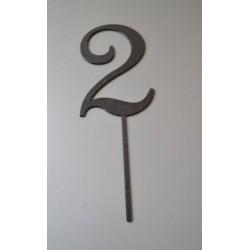 Číslo 2 elegantné