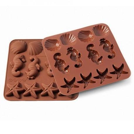 Silikónová forma na čokoládu sea life