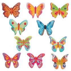 Dekorácia z jedlého papiera motýle 10ks