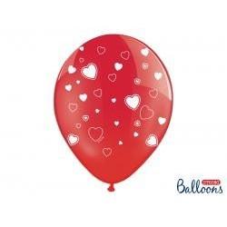 Balón srdiečka červený