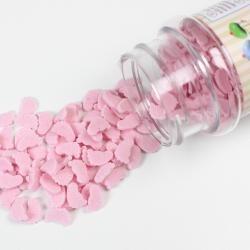 Konfety nožičky ružové